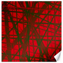 Red pattern Canvas 20  x 20