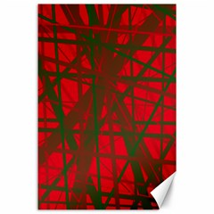 Red pattern Canvas 24  x 36