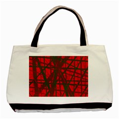 Red pattern Basic Tote Bag (Two Sides)