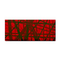 Red pattern Hand Towel