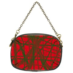 Red pattern Chain Purses (Two Sides)