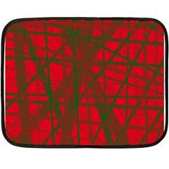 Red pattern Fleece Blanket (Mini)