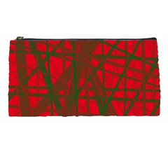 Red pattern Pencil Cases