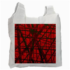 Red pattern Recycle Bag (One Side)