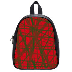 Red pattern School Bags (Small)