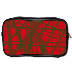 Red pattern Toiletries Bags 2-Side