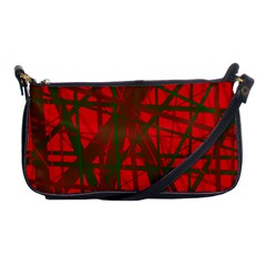 Red Pattern Shoulder Clutch Bags