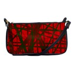 Red pattern Shoulder Clutch Bags Front