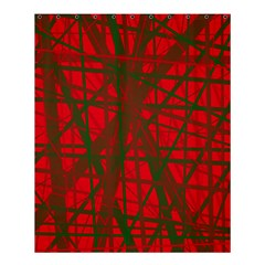 Red pattern Shower Curtain 60  x 72  (Medium)