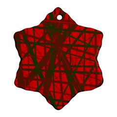 Red pattern Ornament (Snowflake)