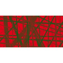 Red pattern YOU ARE INVITED 3D Greeting Card (8x4)