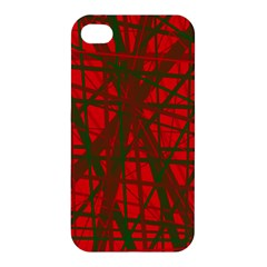 Red pattern Apple iPhone 4/4S Hardshell Case