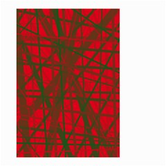 Red pattern Small Garden Flag (Two Sides)