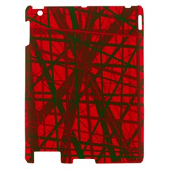 Red pattern Apple iPad 2 Hardshell Case