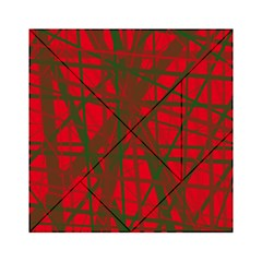 Red pattern Acrylic Tangram Puzzle (6  x 6 )