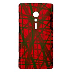 Red pattern Sony Xperia ion