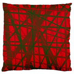 Red pattern Large Cushion Case (Two Sides)