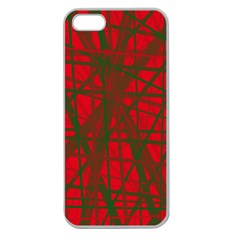 Red pattern Apple Seamless iPhone 5 Case (Clear)