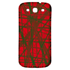 Red pattern Samsung Galaxy S3 S III Classic Hardshell Back Case
