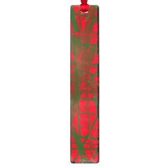 Red pattern Large Book Marks