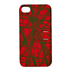 Red pattern Apple iPhone 4/4S Hardshell Case with Stand