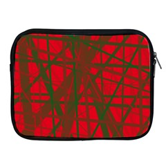 Red pattern Apple iPad 2/3/4 Zipper Cases