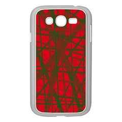 Red pattern Samsung Galaxy Grand DUOS I9082 Case (White)