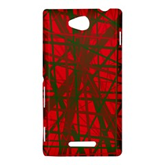 Red pattern Sony Xperia C (S39H)