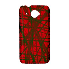 Red pattern HTC Desire 601 Hardshell Case