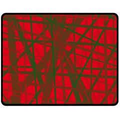 Red pattern Double Sided Fleece Blanket (Medium)