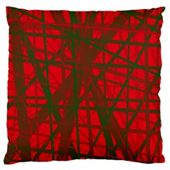Red pattern Large Flano Cushion Case (Two Sides)