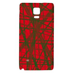 Red pattern Galaxy Note 4 Back Case