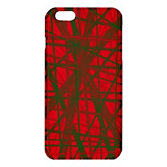 Red pattern iPhone 6 Plus/6S Plus TPU Case