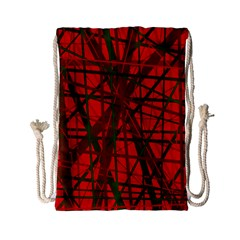 Red pattern Drawstring Bag (Small)