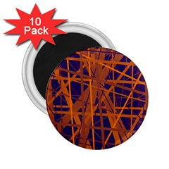 Blue and orange pattern 2.25  Magnets (10 pack)