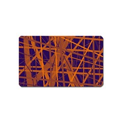 Blue and orange pattern Magnet (Name Card)