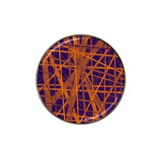 Blue and orange pattern Hat Clip Ball Marker (10 pack)