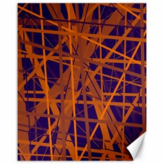 Blue and orange pattern Canvas 16  x 20