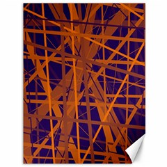 Blue and orange pattern Canvas 36  x 48