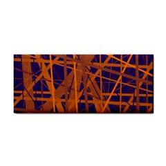 Blue and orange pattern Hand Towel