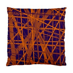 Blue and orange pattern Standard Cushion Case (Two Sides)