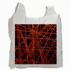 Blue and orange pattern Recycle Bag (Two Side)