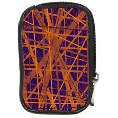 Blue and orange pattern Compact Camera Cases