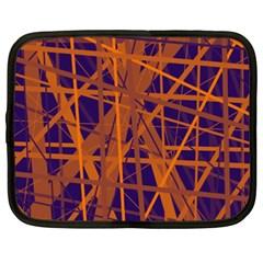 Blue and orange pattern Netbook Case (XXL)