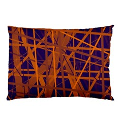 Blue and orange pattern Pillow Case (Two Sides)