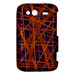 Blue and orange pattern HTC Wildfire S A510e Hardshell Case