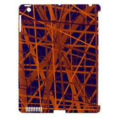 Blue and orange pattern Apple iPad 3/4 Hardshell Case (Compatible with Smart Cover)
