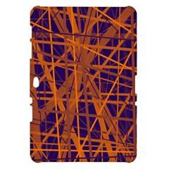 Blue and orange pattern Samsung Galaxy Tab 10.1  P7500 Hardshell Case