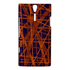 Blue and orange pattern Sony Xperia S