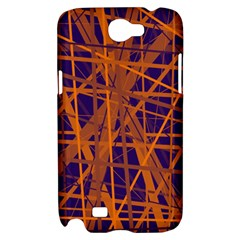 Blue and orange pattern Samsung Galaxy Note 2 Hardshell Case